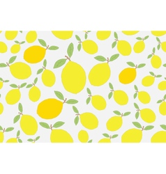 Lemon hand drawn background vector