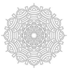 Adult coloring book floral abstract mandala vector