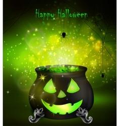 Halloween witches cauldron vector