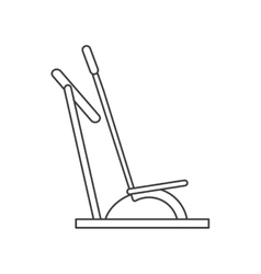 Outline elliptical walker trainer machine gym vector