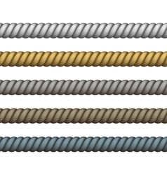 Climbing or nautical rope thin and thick vector
