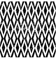 seamless vintage rhombus pattern with grunge vector image