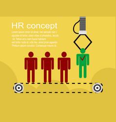 hr infographics element background vector image