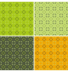 4 retro seamless pattern vector
