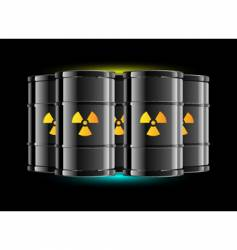 Radiation sign barrels vector