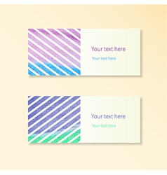Cards and stripes vector