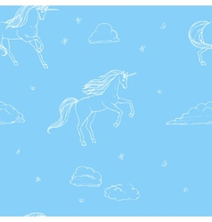 Unicorn seamless vector