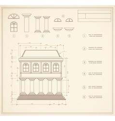 Retro print vector image