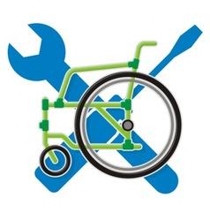 wheelchair service vector image