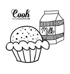 Cook design vector