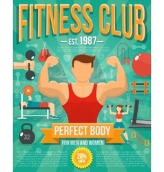 Fitness poster vector