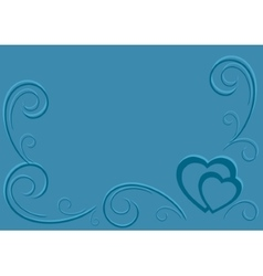 Background by the valentines day vector