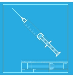 Syringe sign  white section of icon vector