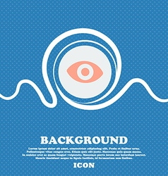 sixth sense the eye sign icon Blue and white vector image