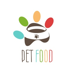Abstract logo for pets theme pets bowl in the vector