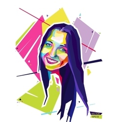 Abstract portrait young woman Style wpap vector image