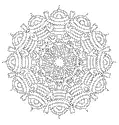 Adult coloring book floral abstract mandala vector