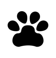 Animal footprint isolated icon vector