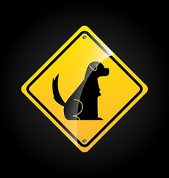animal sign vector image