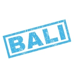 Bali rubber stamp vector