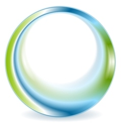 Bright green blue round circle logo design vector image vector image