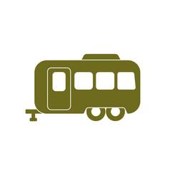 camping trailer icon vector image vector image