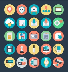 Communication colored icons 4 vector
