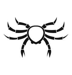Crab sea animal icon simple style vector