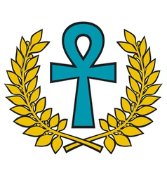 Egyptian Cross vector image vector image