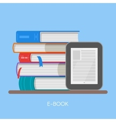 Electronic book concept in vector image vector image