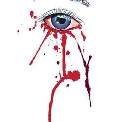 Eye with blood vector