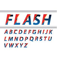 flash speed alphabet vector image