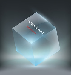 Glass cube vector