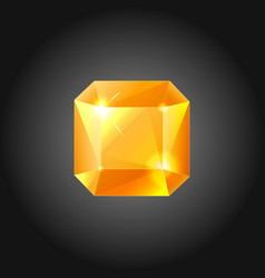 Golden gem - vector