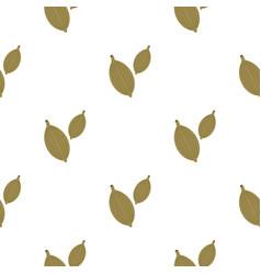 Green cardamom pods pattern flat vector