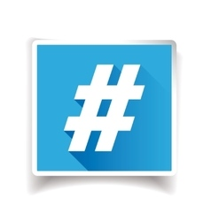 Hashtag sign or hashtag icon vector image