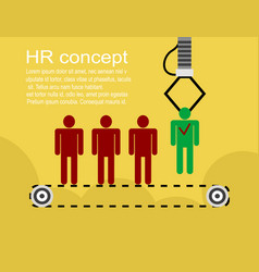 hr infographics element background vector image vector image