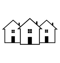 icon house on a white background vector image vector image