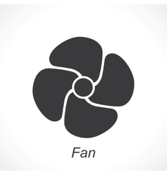 icon of fan vector image