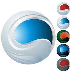 icon sphere vector image