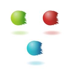 Jagged balls vector