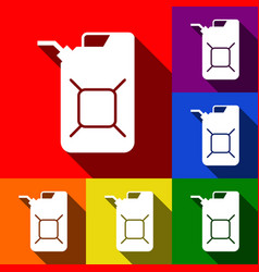Jerrycan oil sign jerry can oil sign set vector
