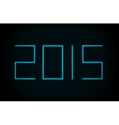 modern neon 2015 new year vector image