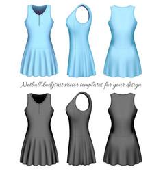 Netball bodysuit vector