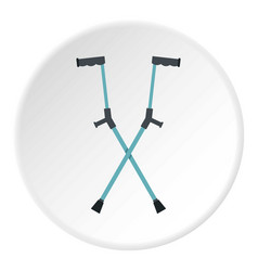 Other crutches icon circle vector