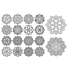 Pattern in arabesque style vector image