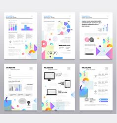 presentation booklet - set of modern vector image vector image