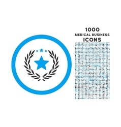 Proud Emblem Rounded Icon with 1000 Bonus Icons vector image
