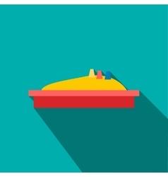 Sandbox icon flat style vector image
