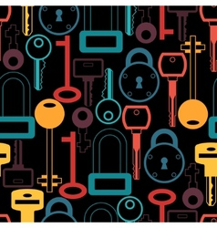 Seamless pattern with locks and keys icons vector image